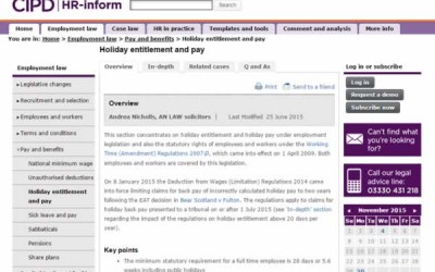 Holiday Pay and Entitlement