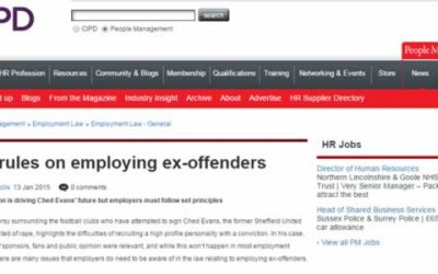 The Rules on Employing Ex-offenders